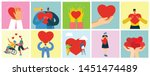 share your love. hands and... | Shutterstock .eps vector #1451474489