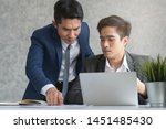 manager reviewing work of...   Shutterstock . vector #1451485430