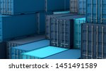 Stack Of Blue Containers Box ...