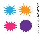 bursting speech star set.... | Shutterstock .eps vector #1451497430