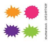 set of vector starburst ...   Shutterstock .eps vector #1451497439