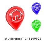 gps marker home icon pin deal... | Shutterstock .eps vector #145149928