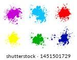 black ink splashes. grunge... | Shutterstock .eps vector #1451501729