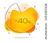 geometric sale banner with... | Shutterstock .eps vector #1451507636