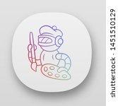 art bot app icon. robot  cyborg ...