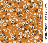 seamless vector floral pattern. ... | Shutterstock .eps vector #1451512496