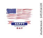 american flag logo design with...   Shutterstock .eps vector #1451516120