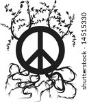 peace symbol with roots and... | Shutterstock .eps vector #14515330