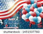 usa labor day background....   Shutterstock .eps vector #1451537783