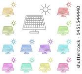 solar panel and sun multi color ...
