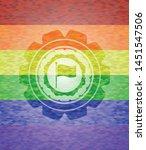 flag icon inside emblem on...   Shutterstock .eps vector #1451547506