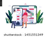 medical reports application ... | Shutterstock .eps vector #1451551349