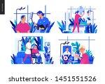set of medical insurance... | Shutterstock .eps vector #1451551526