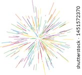 colorful fireworks radiating... | Shutterstock .eps vector #1451572370