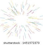 colorful fireworks radiating... | Shutterstock .eps vector #1451572373