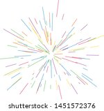 colorful fireworks radiating... | Shutterstock .eps vector #1451572376