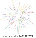 colorful fireworks radiating... | Shutterstock .eps vector #1451572379