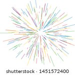 colorful fireworks radiating... | Shutterstock .eps vector #1451572400