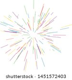 colorful fireworks radiating... | Shutterstock .eps vector #1451572403