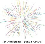 colorful fireworks radiating... | Shutterstock .eps vector #1451572406