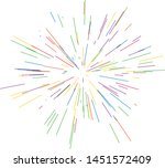 colorful fireworks radiating... | Shutterstock .eps vector #1451572409