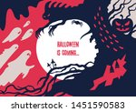 scary halloween poster about... | Shutterstock .eps vector #1451590583
