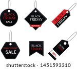 black friday sale inscription...   Shutterstock .eps vector #1451593310