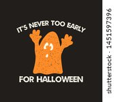 halloween graphic print for t... | Shutterstock .eps vector #1451597396