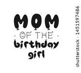 birthday girl silhouette...   Shutterstock .eps vector #1451597486