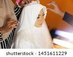 muslim wedding close up face...   Shutterstock . vector #1451611229