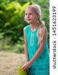 little cute smiling caucasian...   Shutterstock . vector #1451623199