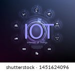 iot  internet of things   or... | Shutterstock .eps vector #1451624096