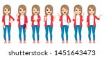 set collection of casual... | Shutterstock .eps vector #1451643473