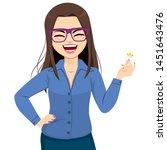 beautiful happy businesswoman... | Shutterstock .eps vector #1451643476