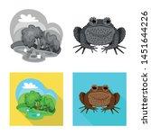 vector illustration of wildlife ... | Shutterstock .eps vector #1451644226