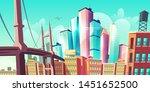modern city metropolis growth ... | Shutterstock .eps vector #1451652500