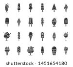 ice cream silhouette icons set. ...   Shutterstock .eps vector #1451654180