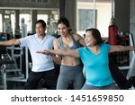 trainer young female training...   Shutterstock . vector #1451659850