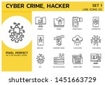 line icons style. hacker cyber...
