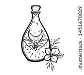 magic butterfly in a bottle.... | Shutterstock .eps vector #1451670029