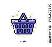 icon of shopping basket for... | Shutterstock .eps vector #1451673530