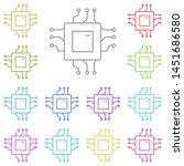 chip  core multi color icon....