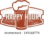 Happy Hour Beer Bar Stamp