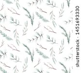 seamless floral pattern with... | Shutterstock . vector #1451693330