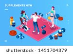 gym supplement  workout or... | Shutterstock .eps vector #1451704379