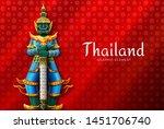 thailand art thai temple...   Shutterstock .eps vector #1451706740