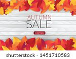 autumn sale illustration with... | Shutterstock .eps vector #1451710583
