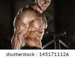 handsome strong athletic men...   Shutterstock . vector #1451711126