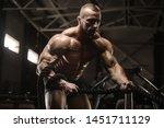 handsome strong athletic men...   Shutterstock . vector #1451711129