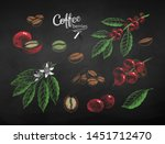 vector chalk drawn set of... | Shutterstock .eps vector #1451712470